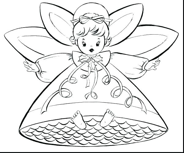 601x500 Angel Coloring Pages Preschool Angel Coloring Pages