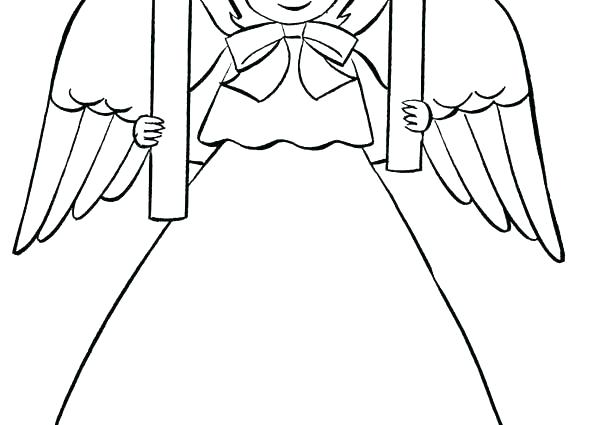 600x425 Angel Coloring Pages Printable Angel Template Printable Google