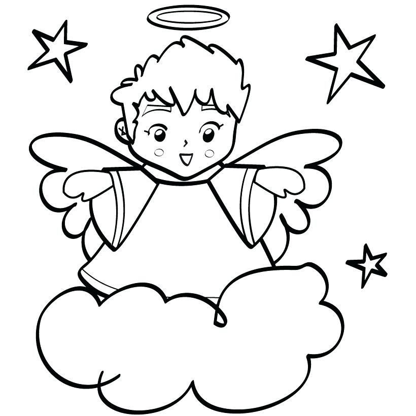 820x820 Angels Coloring Pages Print Angel To Ideas Free