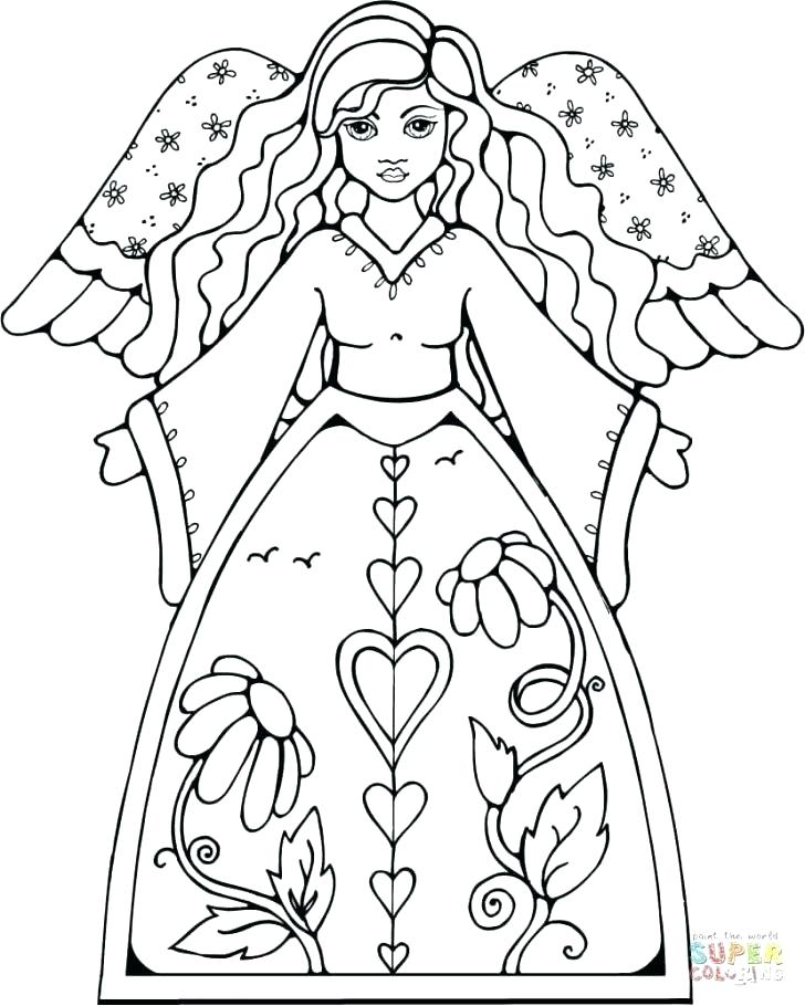 728x910 Angel Coloring Page Angel Wings Coloring Pages To Print