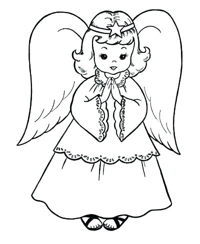400x489 Coloring Pages Of Angels Angel Coloring Pages Printable Coloring