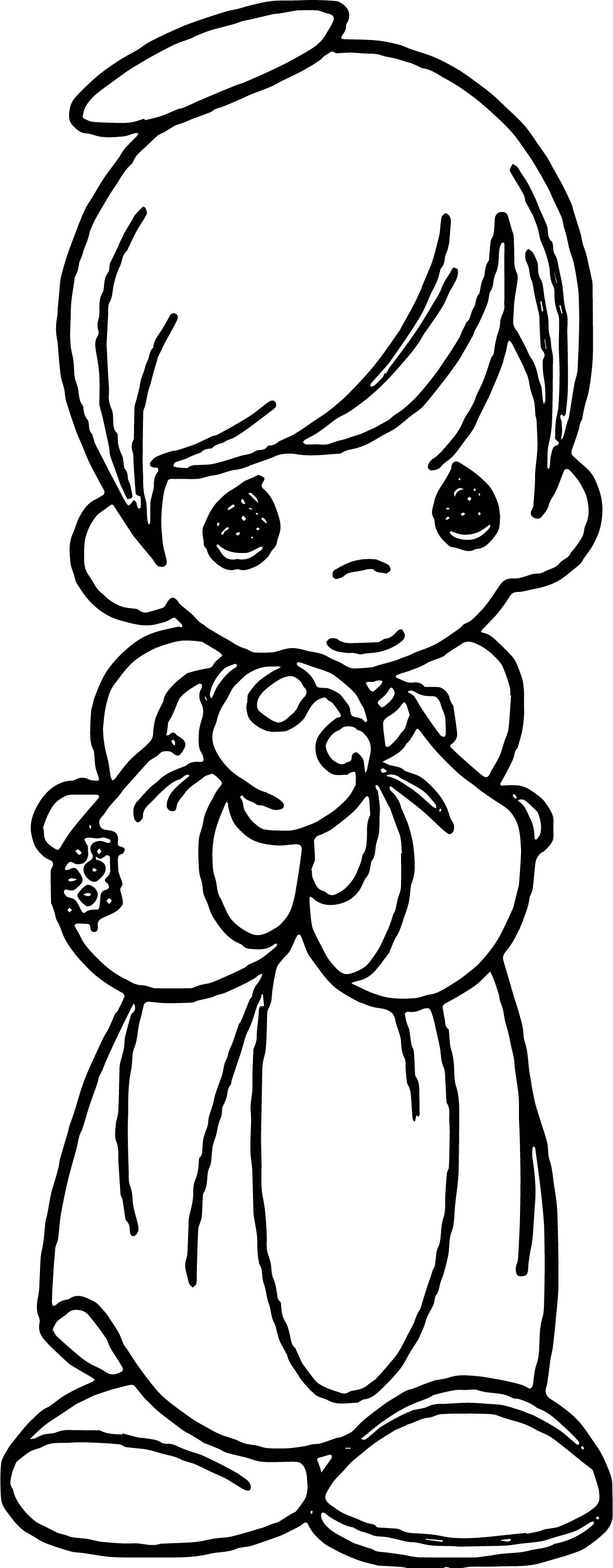 1180x3017 Cute Angel Coloring Page For Girls To Print Free Printable Adult