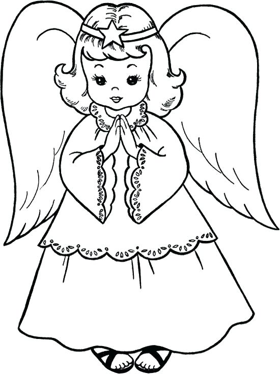 550x736 Free Angel Pictures To Print Angels Coloring Pages Print Free