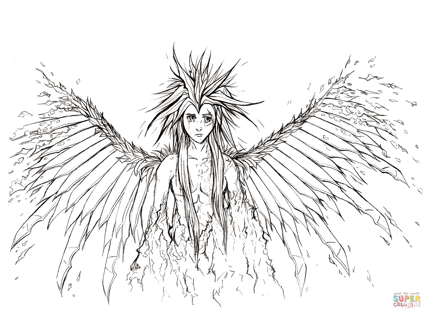 1500x1102 Growth Dark Angel Coloring Pages Amazing For Ideas And To Print