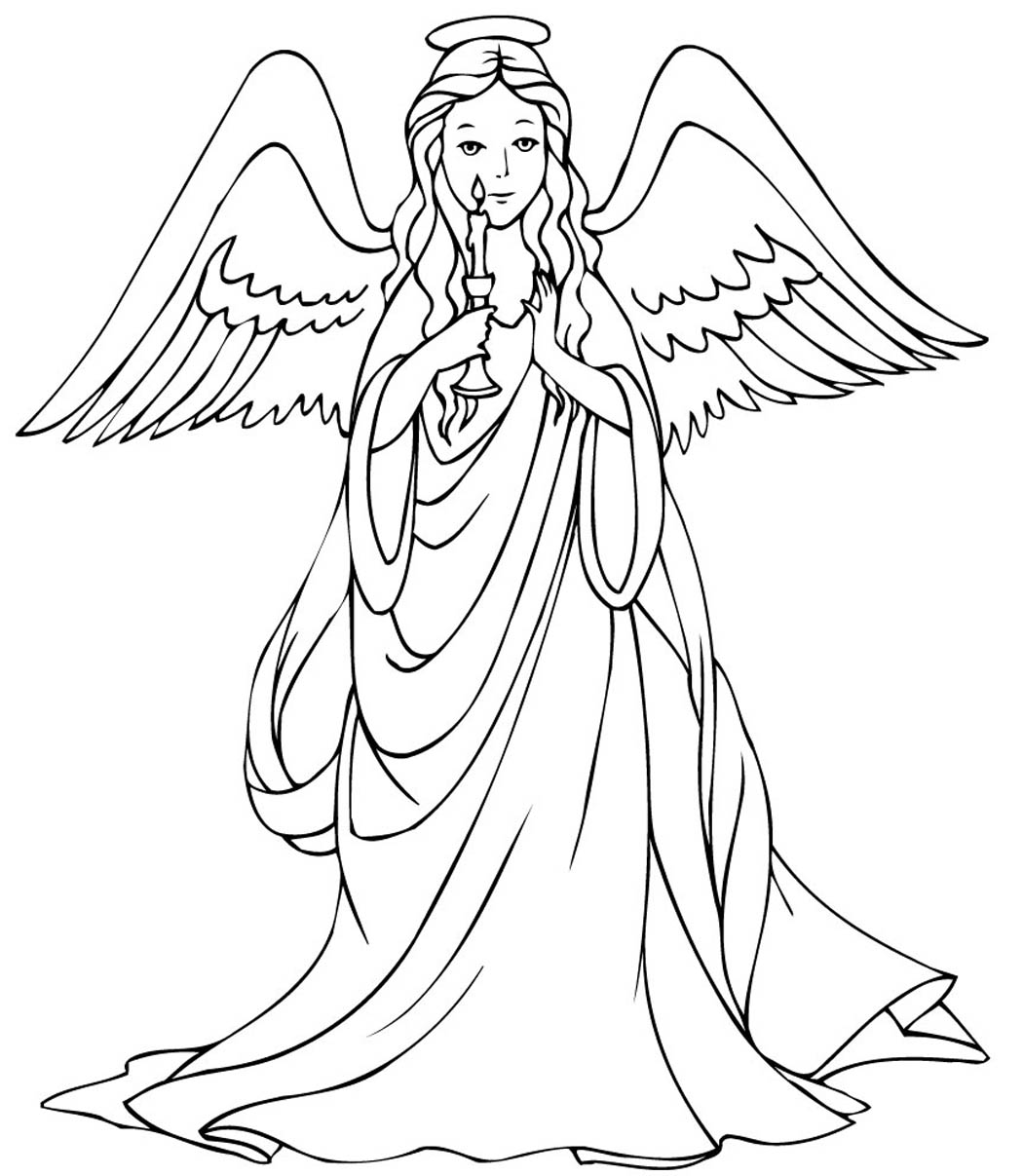 1050x1207 Angel Coloring Page Angels Pages