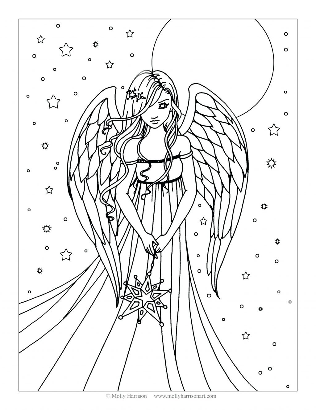 1024x1325 Coloring Pages Angel Coloring Page Free