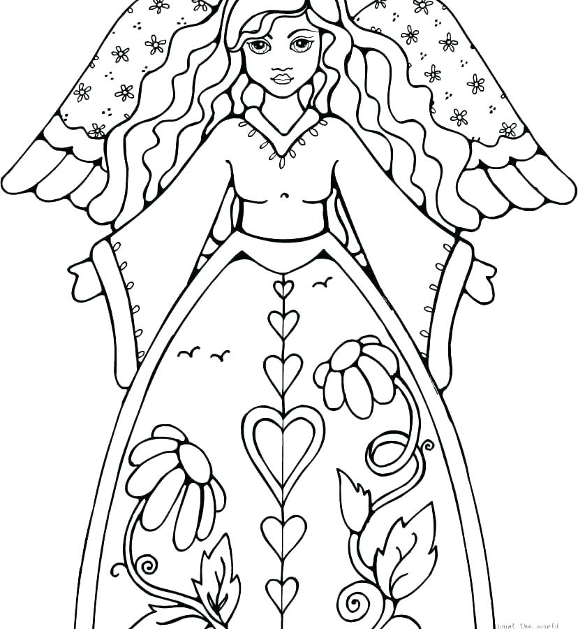 828x900 Angel Coloring Page Guardian Angel Coloring Page Very Attractive