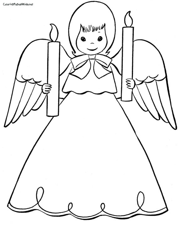 600x727 Angel Coloring Pages