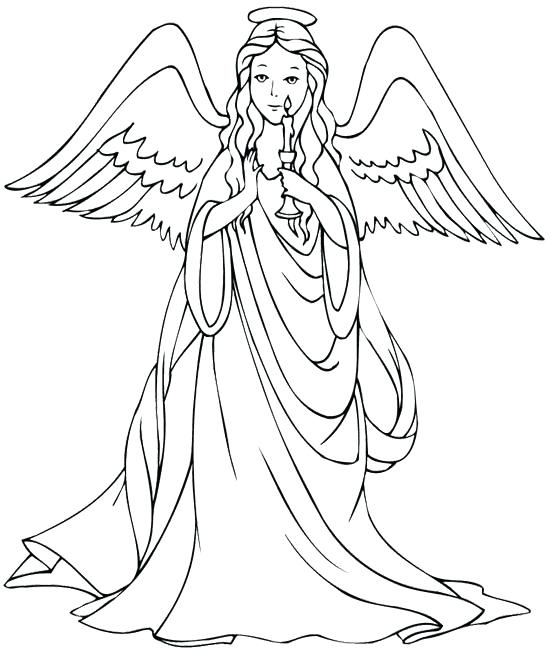 550x652 Angel Coloring Pages Angel Coloring Page Angels Coloring Pages