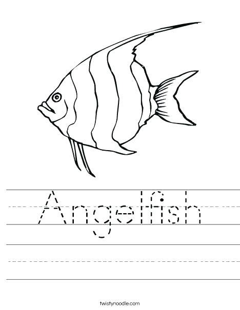 468x605 Angel Fish Coloring Page Angel Fish Coloring Page Angelfish