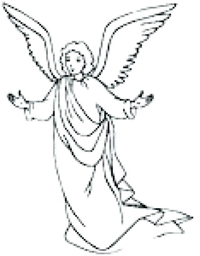 Angel Gabriel Coloring Page