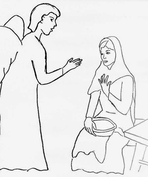 Angel Gabriel Coloring Page At Getdrawings Com Free For Personal