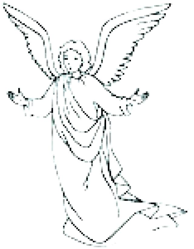 640x820 Angel Gabriel Visits Mary Colouring Page And Coloring Pages