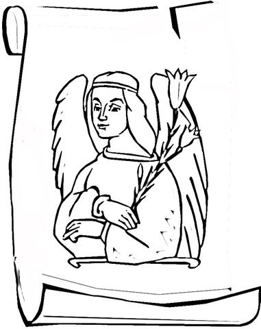381x480 Click To See Printable Version Of Angel Gabriel Coloring Page