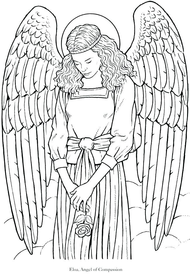 650x941 Coloring Page Angel Angels Coloring Pages Print Coloring Page