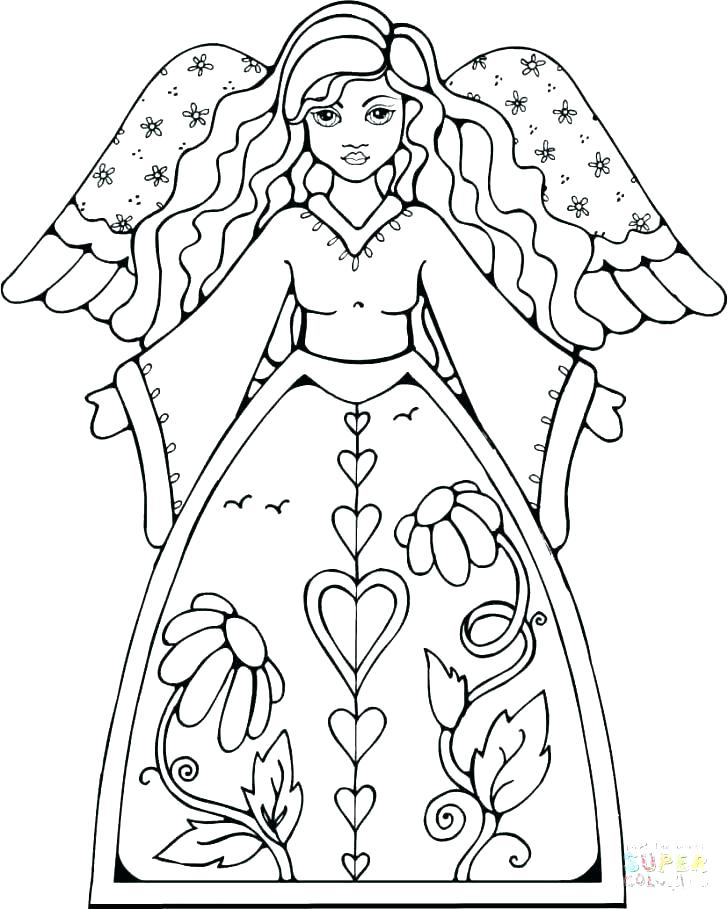 728x910 Coloring Pages Of Angels Angels Coloring Page From Creative Haven