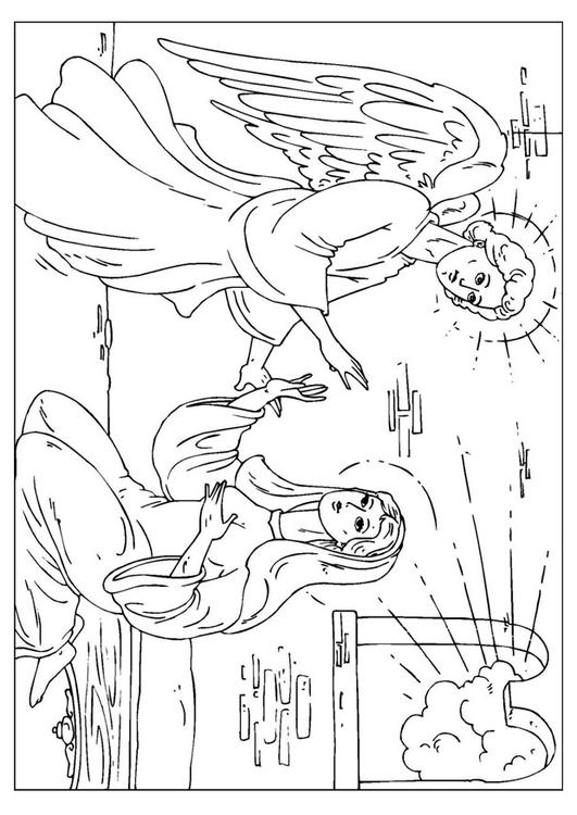 531x750 Coloring Page Angel Gabriel