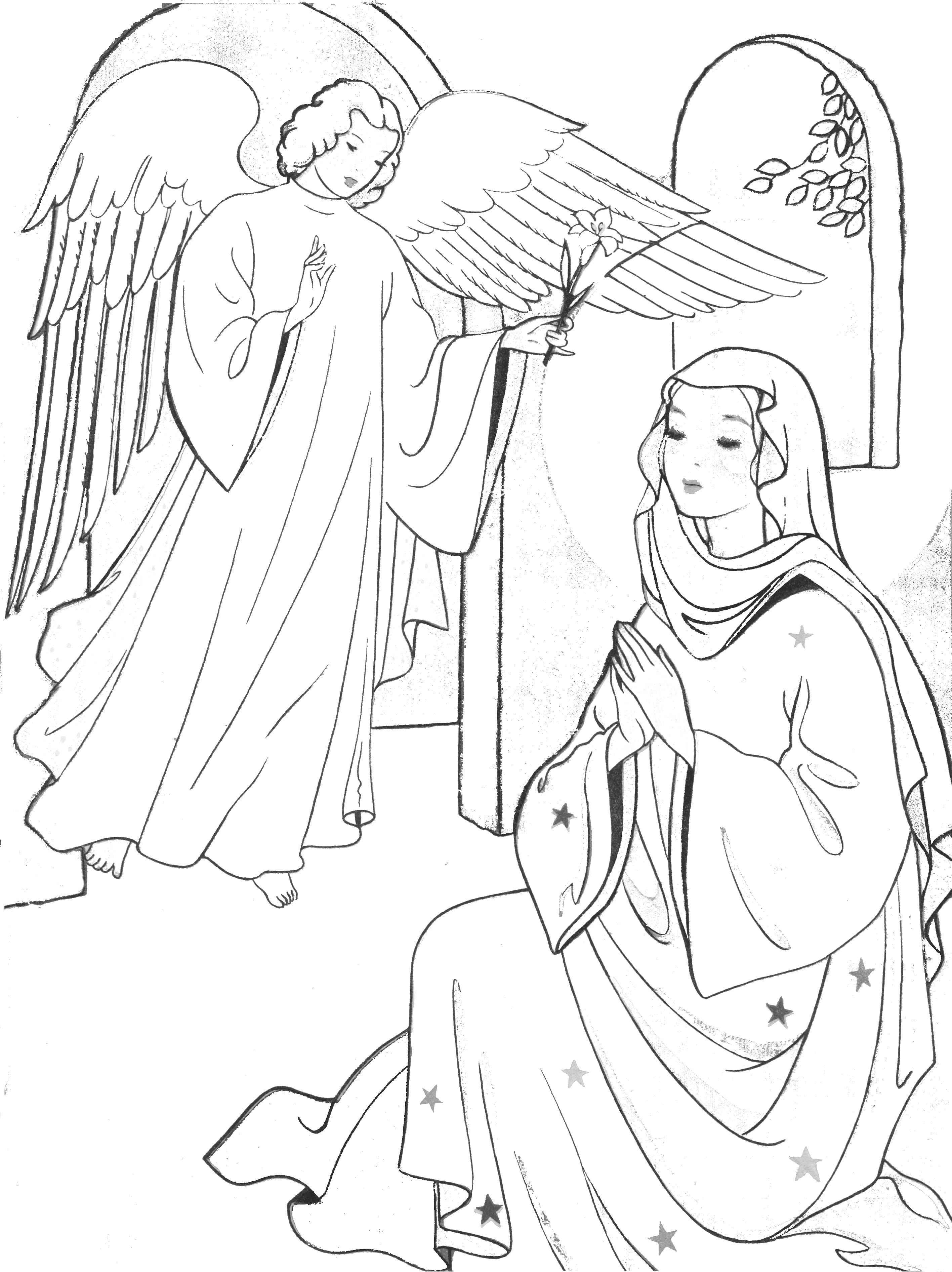 2833x3784 Feasts Of Mary Archives Family In Feast And Feria Gabriel Coloring