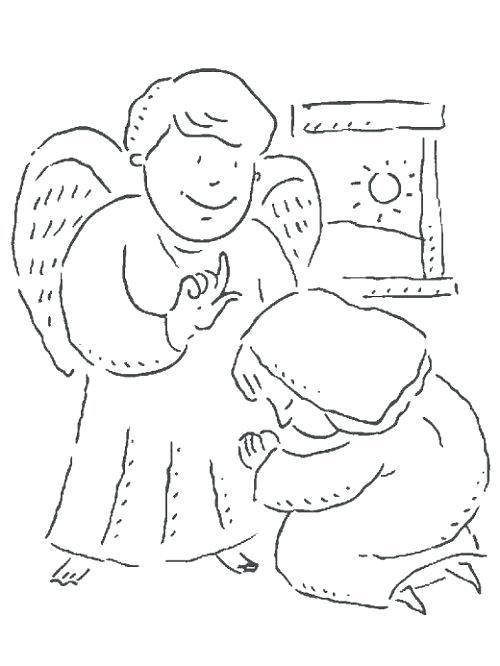 500x666 Mary And Gabriel Coloring Page Arch Angel Gabriel Visits Mary