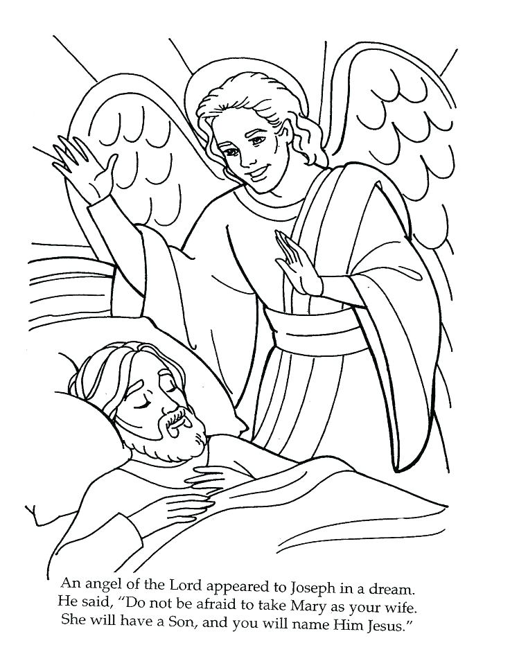 736x954 Angel Comes To Mary Coloring Pages New And The Angel Coloring Page