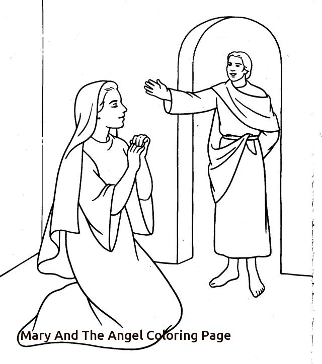 640x724 Mary And The Angel Gabriel Coloring Page Of Mary And The Angel