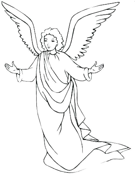 540x695 Mesmerizing Angel Gabriel Coloring Page Coloring Book A Holiday
