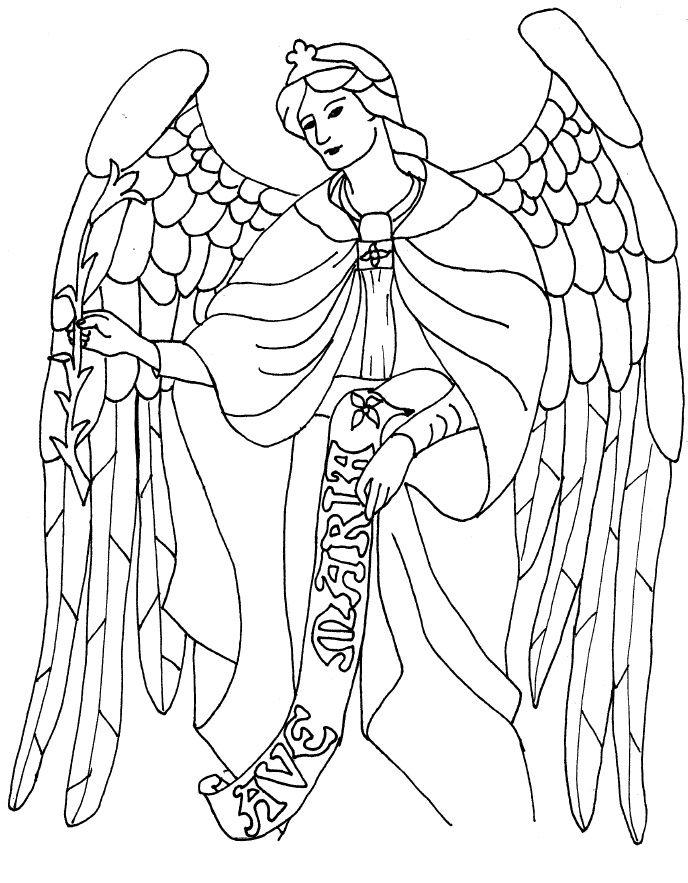 688x883 Saint Gabriel Coloring Page Angels Gabriel, Church