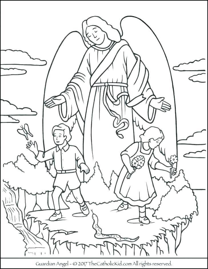 728x942 Angel Coloring Sheet