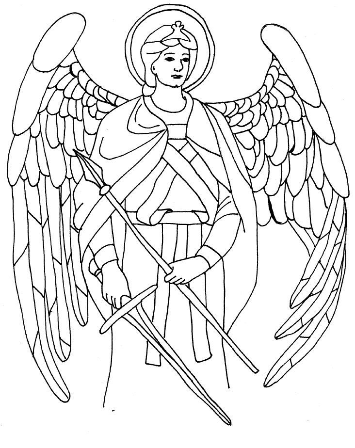 732x924 Angel Gabriel Coloring Pages