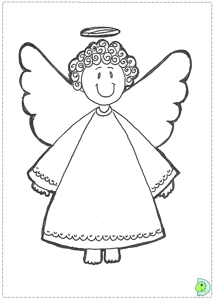 691x960 Angel Pictures To Color