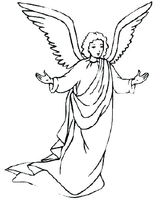 600x774 Mesmerizing Angel Gabriel Coloring Page