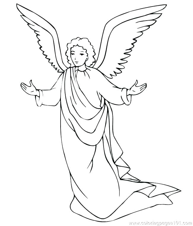 650x758 Angel Gabriel Coloring Page Angel Coloring Page And Coloring Page