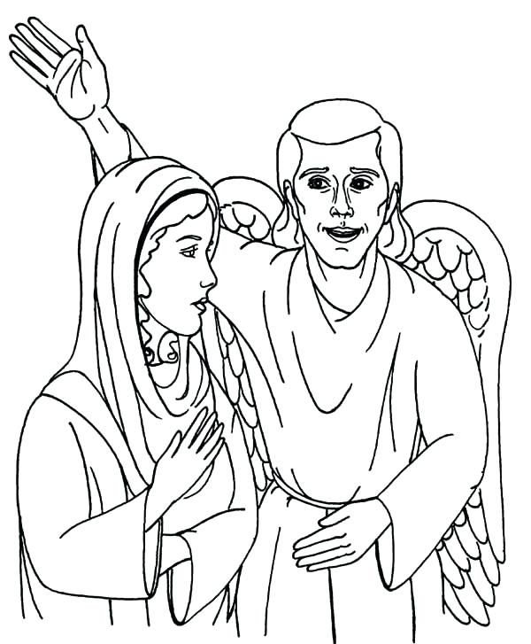 600x727 Angel Gabriel Coloring Page Angel Coloring Page Coloring Page