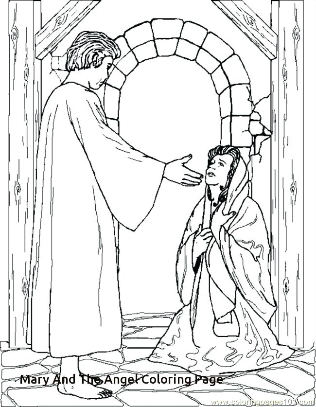 650x837 Angel Gabriel Coloring Page Free Angel And Coloring Pages