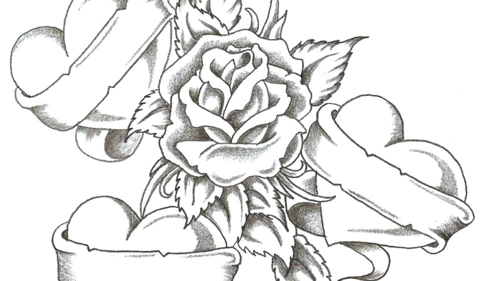 960x562 Coloring Pages Roses Heart Coloring Sheets In Addition To Pin