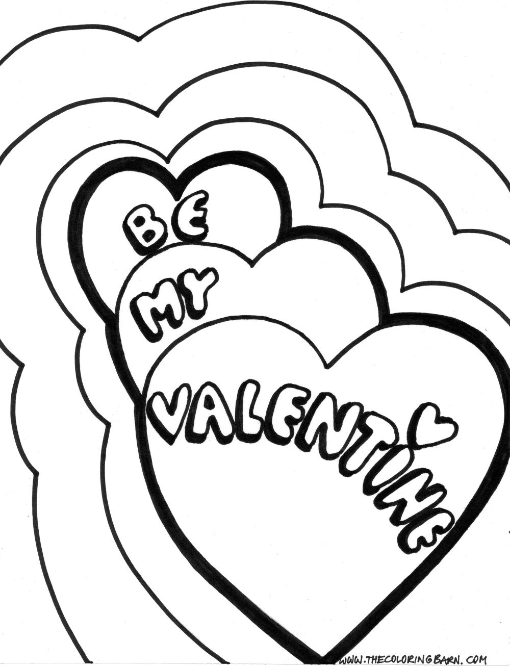 1000x1308 Valentine Coloring Pages Free Printable