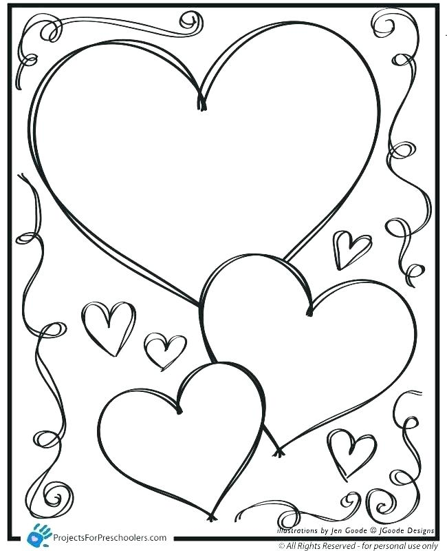 650x800 Coloring Page Of A Heart Heart Coloring Picture Heart Coloring