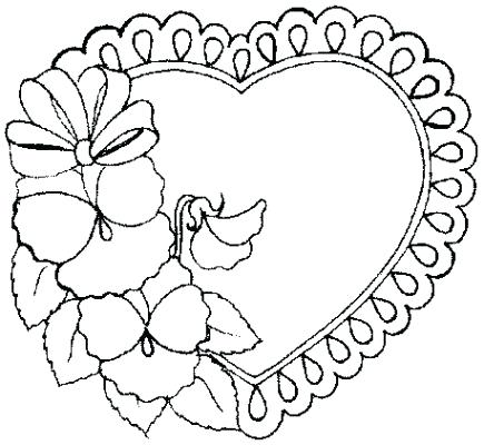 435x400 Coloring Pages Heart Download Heart Coloring Pages Hearts