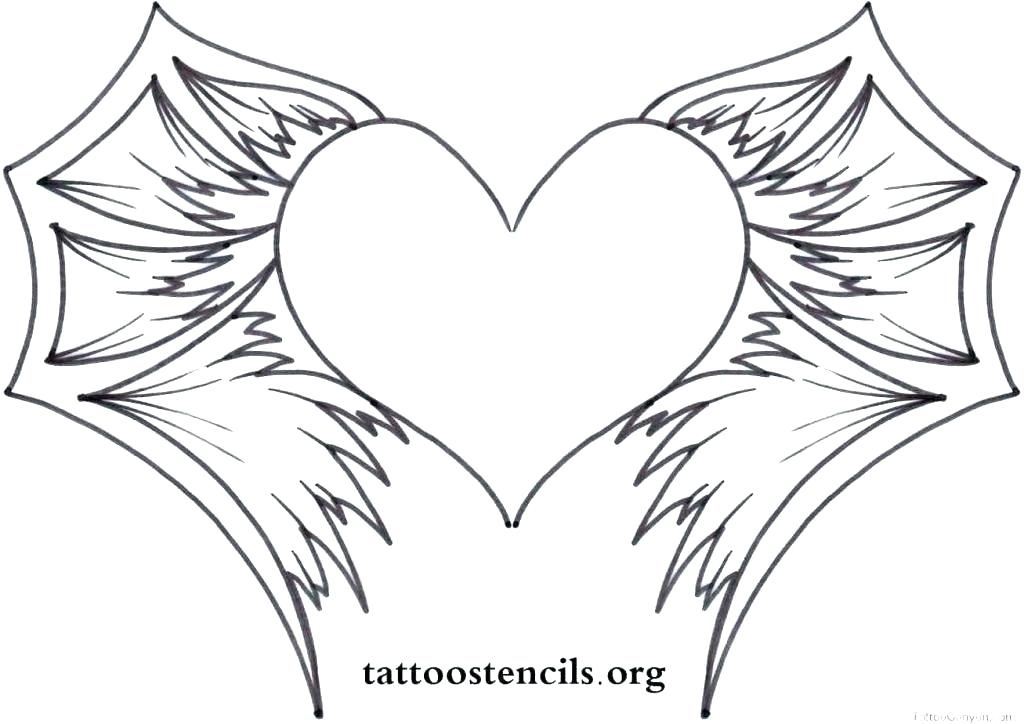 1024x724 Angel Wings Coloring Pages Angel Wings Coloring Pages Heart