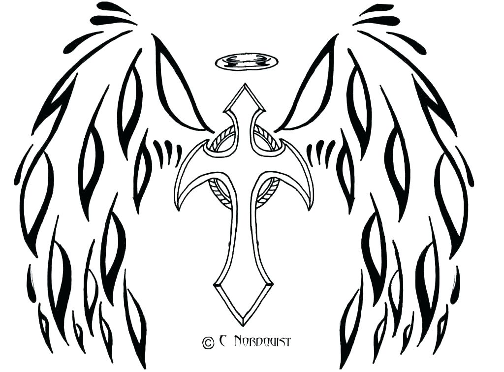 1024x756 Angel Wings Coloring Pages Angel Wings Coloring Pages Hearts