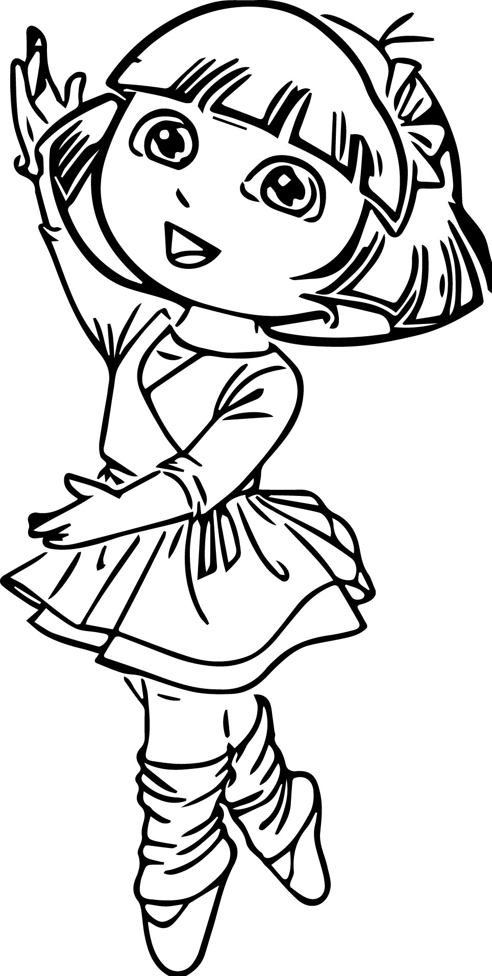 964x1913 Angelina Ballerina Coloring Pages Dora Coloringstar
