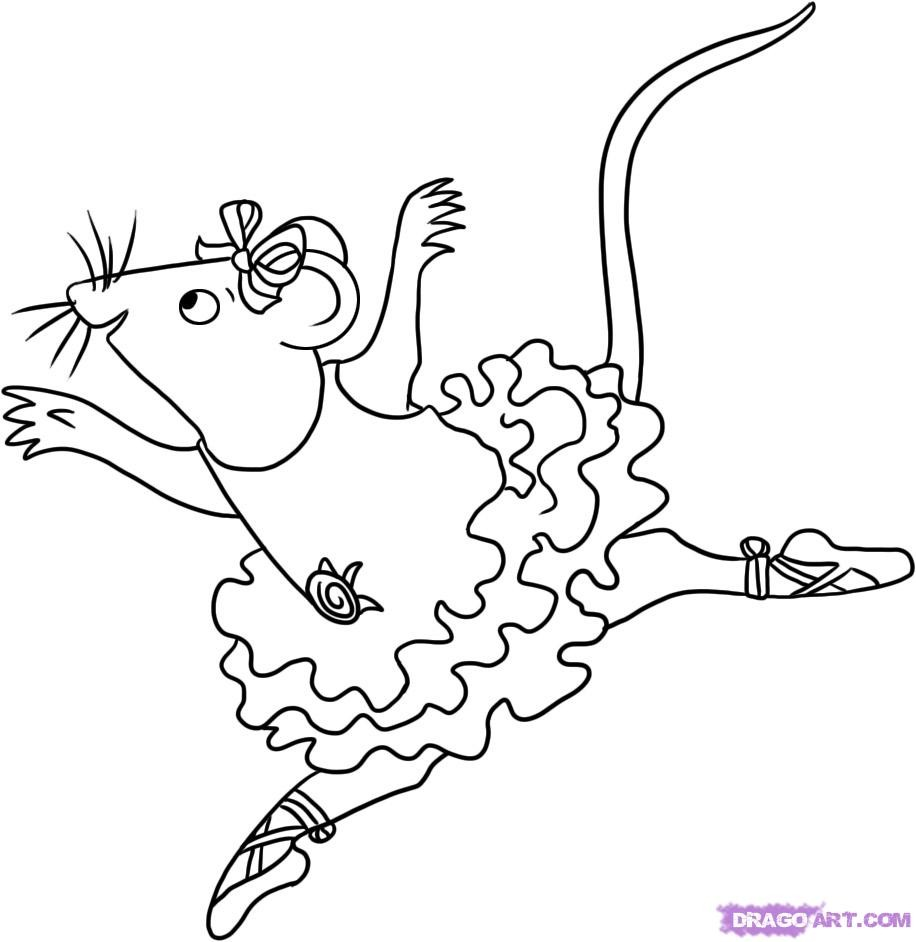 916x942 Angelina Ballerina Coloring Pages Printable Fresh How To Draw