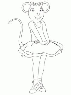 236x314 Coloring Pages Angelina Ballerina