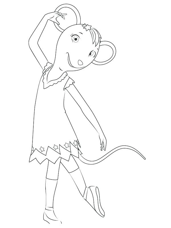 600x800 Dibujo Para Colorear Angelina Ballerina Para Little Coloring Pages