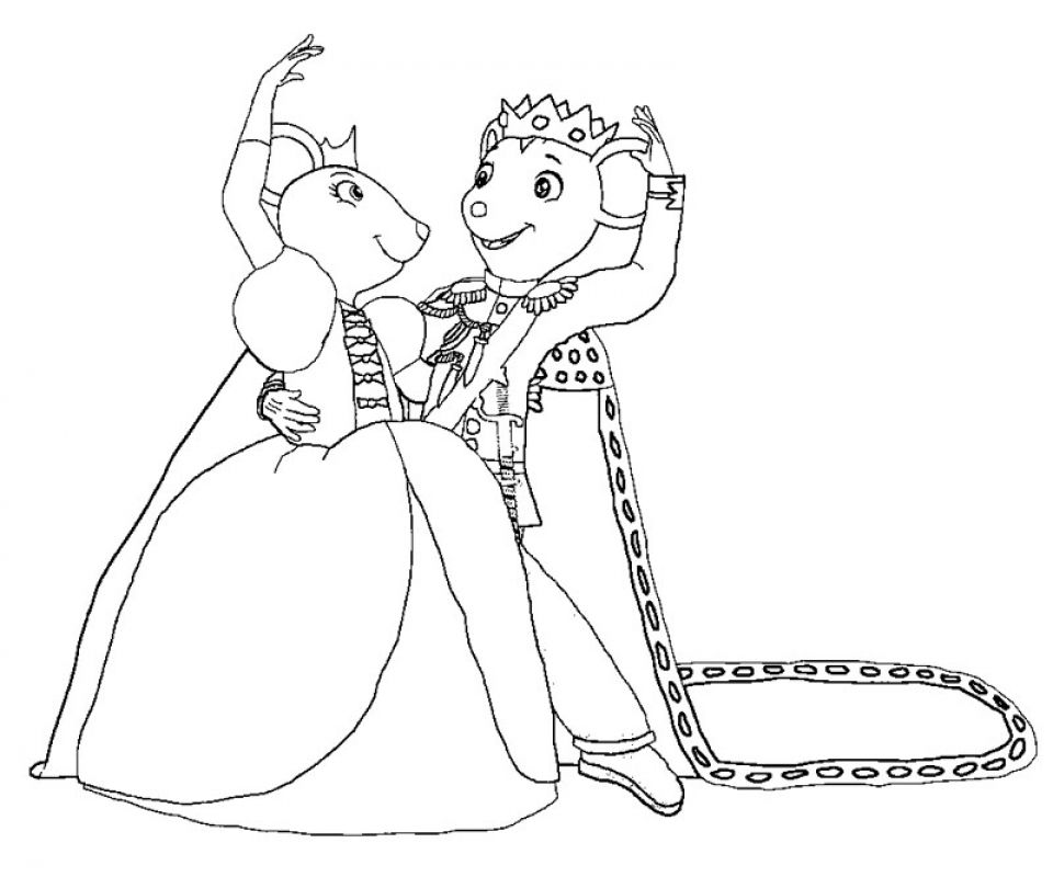 960x800 Printable Angelina Ballerina Coloring Pages At Angelina