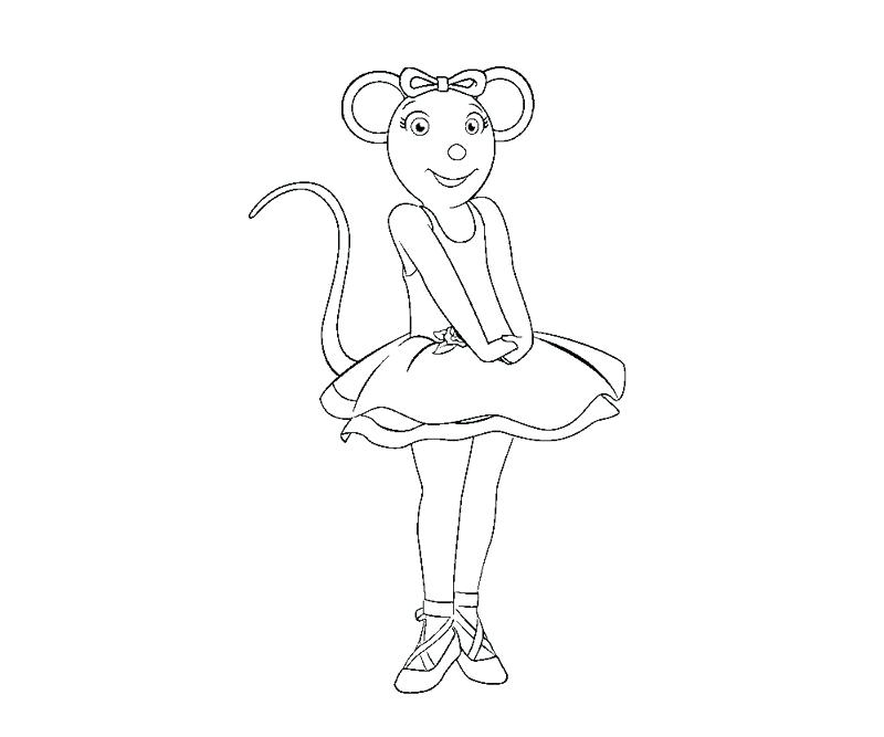 800x667 Coloring Angelina Ballerina Coloring Page Pages Printable