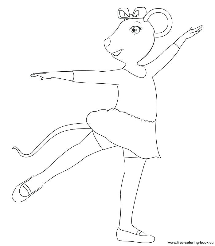 700x800 Angelina Ballerina Coloring Page Ballerina Coloring Pages Ballet