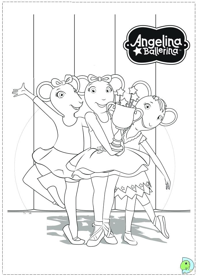 691x960 Angelina Ballerina Coloring Page
