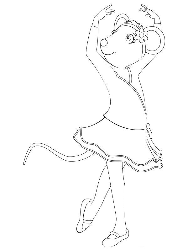 600x800 Angelina Ballerina Coloring Pages Cards And Invitations