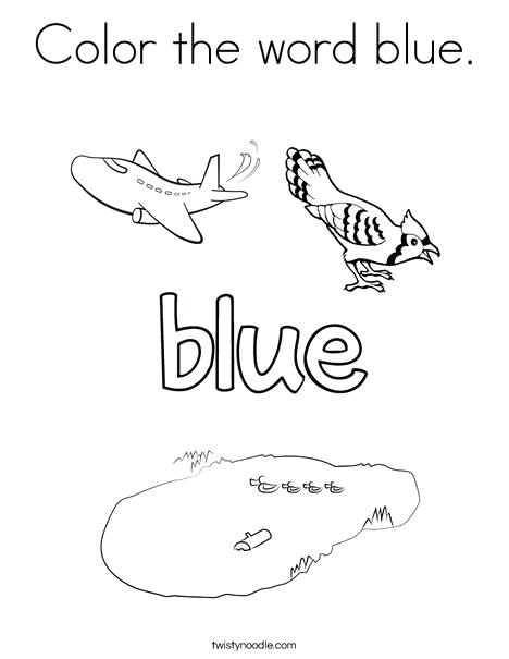 468x605 Blue Coloring Page Color The Word Blue Coloring Page Blue Angels